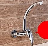 bathroom taps SCLOTHS SCLOTHS Lavabo Grifo Mezclador de Cobre Moderna Cocina Caliente y Fría del Grifo Monomando Lavabo Individual