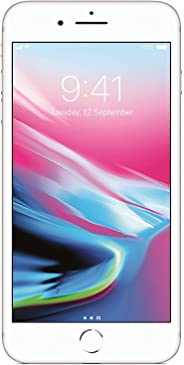 Apple iPhone 8 Plus UK Sim-Free Smartphone, 64 GB - Silver (Renewed)