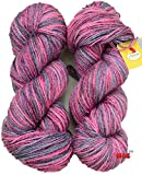 #10: Vardhman Multi Prime Rose Hand knitting wool / Art Craft soft fingering crochet hook yarn, needle Acrylic knitting yarn thread dyed 300 gm