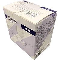 Mascherine FFP2 Certificate CE Categoria DPI: III, conformi EN 149:2001 + A1:2009. MADE IN ITALY Confezione da 50 pezzi.