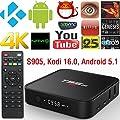 AKASO T95M TV Box Android 5.1,HDMI Kodi 16.0 Pre installed Amlogic S905 Quad Core 1GB RAM 8GB Flash 4K Google Smart TV Box