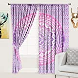 Jaipurcraft 2 Pcs Cotton Window Curtain Long Door - 40 × 82 Inches Pink