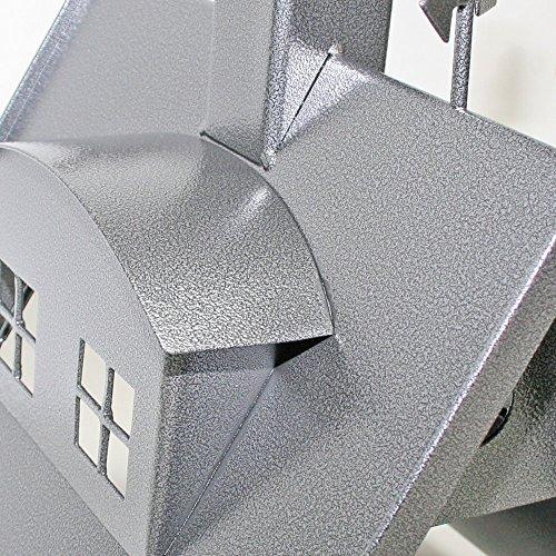 Vogelhaus XXL mit Ständer aus Metall (Farbe: silber-antik) - 8