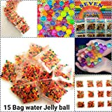 #4: Supermall New 15 Bags Crystal Mud Soil Water Beads Jelly Gel Ball Flower Plant Decor Best Quality