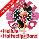 Folienballon Set * MICKEY MOUSE * + HELIUM FÜLLUNG + HALTE CLIP + BAND * für Kindergeburtstag und Motto-Party // Kinder Geburtstag Folien Ballon Helium Deko Ballongas Motto Disney Minnie Maus