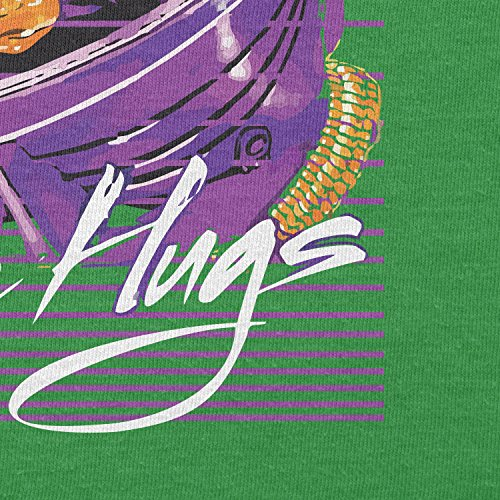 NERDO - Space Hugs - Herren T-Shirt Grün