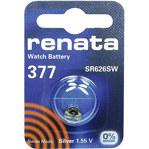 377 (SR626SW) Batteria Pulsante / Ossido D'argento 1.55V / per