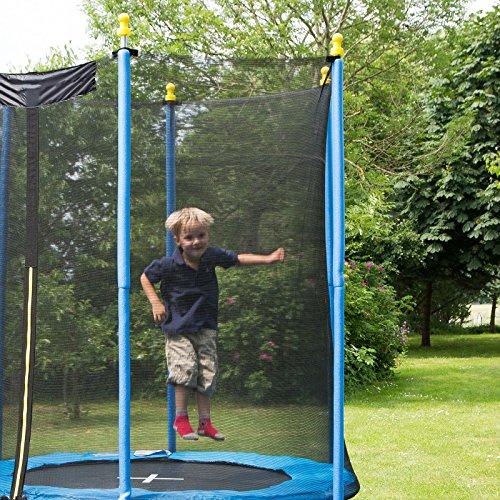 Ultrasport Gartentrampolin Promo, Kindertrampolin, Trampolin Komplettset inklusive Sprungmatte, Sicherheitsnetz, gepolsterten Netzpfosten und Randabdeckung, 305 cm - 3