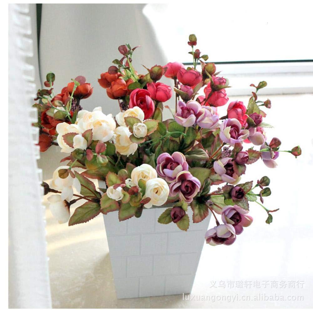 HCZH Simulación Rosa Colina Colorida Camelia Artificial Floral Flor Rosa Artificial de Alto Grado Simulación de Boda…