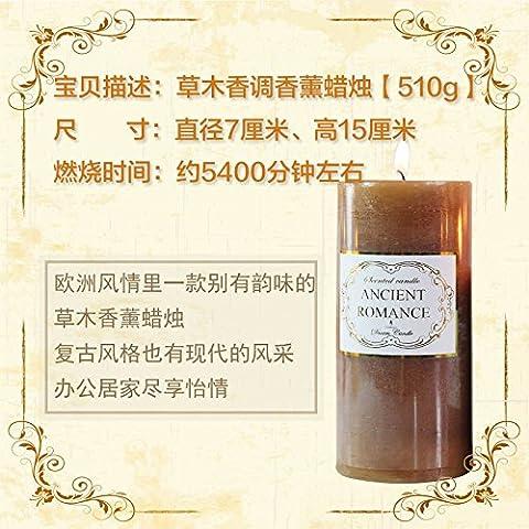 Fragancia de Velas románticas velas de aromaterapia aceite manualmente las velas de humo para permanecer adentro ,8,7*15cm fumar