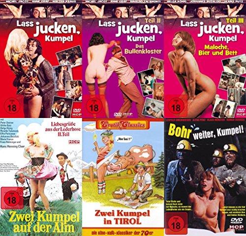 (Erotik Classics LASS JUCKEN KUMPEL - Sexy Ruhrpott Collection 6 DVD Limited Edition DAS BULLENKLOSTER * MALOCHE BIER & BETT * ZWEI KUMPEL AUF DER ALM * 2 KUMPEL IN TIROL * BOHR WEITER KUMPEL)