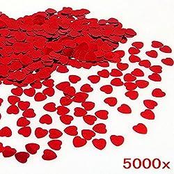 * Coriandoli matrimonio rossi, sono fatti di plastica, hanno effetto scintillante . Niente odore cattivo. * Piccolo, sottile e leggero, Dimensioni: 1.1*1.1*0.5CM. Spessore: 0.5MM, 1000 pezzi = 30 g. * Coriandoli cuore amore possono essere utilizzati ...