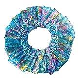 100pcs Bolsitas de Organza de Regalo, Coralline patrón Bolsa de malla de caramelo, bolsas de cordón bolsa de joyas bolsas de candy fiesta boda Favor bolsa de regalo, Azul (7 * 9cm)