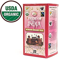 PRIDE OF INDIA Stress Relief Herbal Tea - 25 Tea Bags