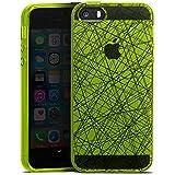 Apple iPhone SE Silikon Hülle Case Schutzhülle Transparent mit Muster Linien Striche