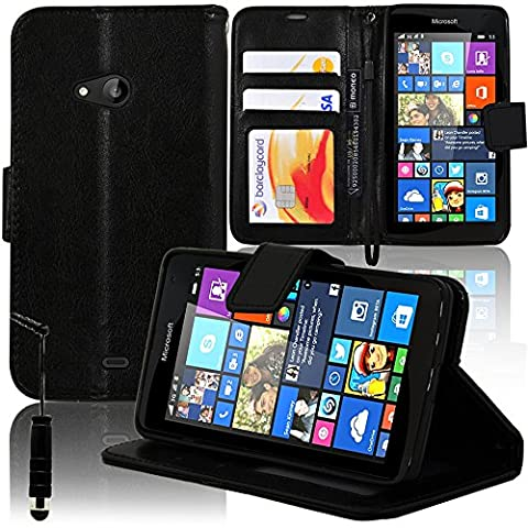 Nokia 535 Dual Sim - VCOMP® Housse Coque Etui portefeuille Support Video
