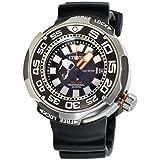 Citizen Eco-Drive BN7020-17E – orologio da uomo con cinturino in titanio e gomma, quadrante nero, al quarzo