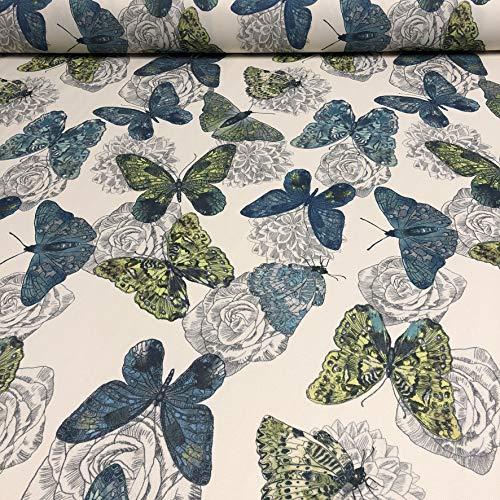 Polsterstoff Dekostoff 0,5lfm 148cm breit Muster Butterfly Schmetterling 03 -