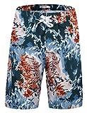 APTRO Herren Shorts Freizeit Casual Mode Urlaub Strandshorts Sommerhose BS025 XXL Orange