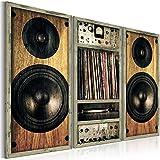 murando - Cuadro 120x80 cm - Impresion en calidad fotografica TOP - lienzo tejido-no tejido - Msica Madera Radio Vintage i-B-0018-b-e