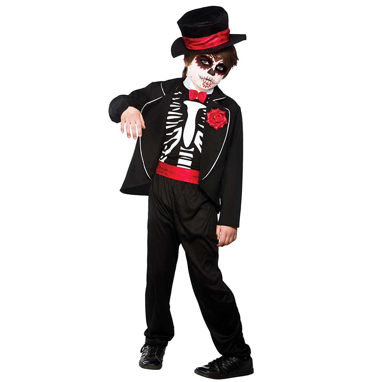 Day Of The Dead Zombie , Kids Fancy Dress Costume 8 , 10 years  Amazon.co.uk Clothing