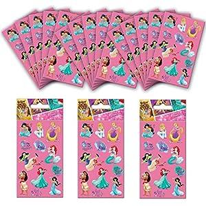 Paper Projects- Paquete de pegatinas para fiesta de princesas Disney (18 hojas) (01.70.24.061)