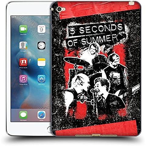 Ufficiale 5 Seconds Of Summer Jam Montaggio Di Gruppo Cover Morbida In Gel Per Apple iPad mini 4