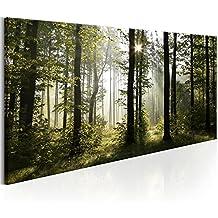 murando - Cuadro - Bosque 140x70 cm - Lienzo tejido no tejido - Cuadro en lienzo tejido no tejido - Naturaleza Paisaje c-B-0262-b-a