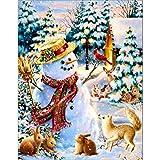 Diamant Malerei, Weihnachten Diamant Strass Eingefügt Stickerei Malerei Kreuzstich Wohnkultur Voller Diamant Anstrich Erwachsene DIY Ölgemälde Festliche Decor 30 x 37 cm