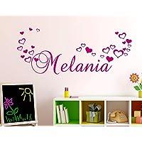 Adesivi Murali Nome personalizzato bambini Adesivo Murale cameretta Wall Stickers Personalizzato Decorazione Cameretta…