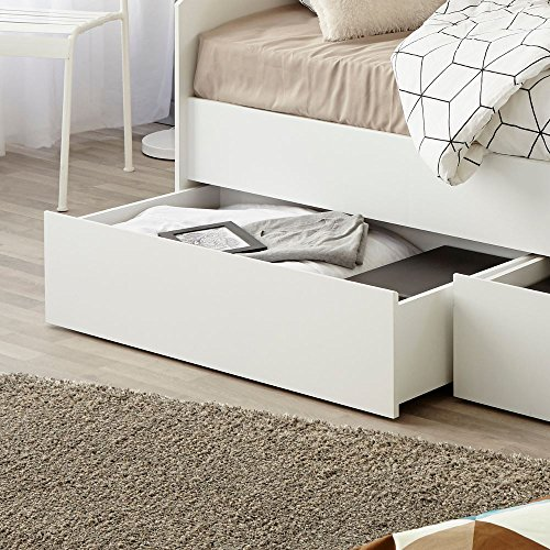 Happy Beds Sleep White Wooden Day Bed Frame Only European Single (90 x 200 cm)