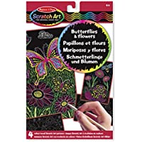 Melissa & Doug 15956 - Imágenes scratch art con revelación de colores: mariposas y flores