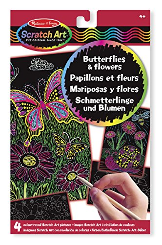 Melissa & Doug Scratch Art Schmetterlinge & Blumen