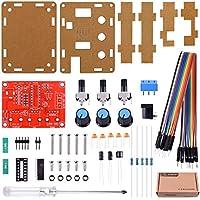"""Generador de funciones - Kuman Kit de Generador de Señales XR2206 """"hazlo tú mismo"""" actualizado con destornillador y cables de puente – Con salida de seno, triángulo y cuadrado 1Hz-1MHz Amplitud de frecuencia ajustable K76"""