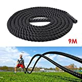amzdeal 9M x 38mm Trainingsseil Funktionelles Training Sportseil