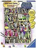 Ravensburger 28895 - Magisches Bücherregal - Malen nach Zahlen Trend, 30 x 40 cm