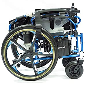 PW-800AX (Lightweight Dual Function Foldable Power Wheelchair (Li-ion Battery), Drive with Electric Power or use as Manual Wheelchair.