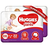 Huggies Wonder Dry Pants, Double Extra Large (XXL) Size Diapers Combo Pack of 2, 22 Counts per Pack, 44 Count