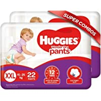 Huggies Wonder Dry Pants, Double Extra Large (15 - 25 kg), Combo Pack of 2, 22 Counts per Pack, 44 Count