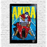 Kaneda de AKIRA (Katsuhiro Otomo) - Pintura Enmarcado Original, Imagen Pop-Art, Impresión Póster, Impresion en Lienzo, Cuadro, Cómics, Cartel de la Película, Anime, Manga
