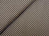 0,5m Stoff Punkte klein in braun/ weiß 1,4m breit 100%