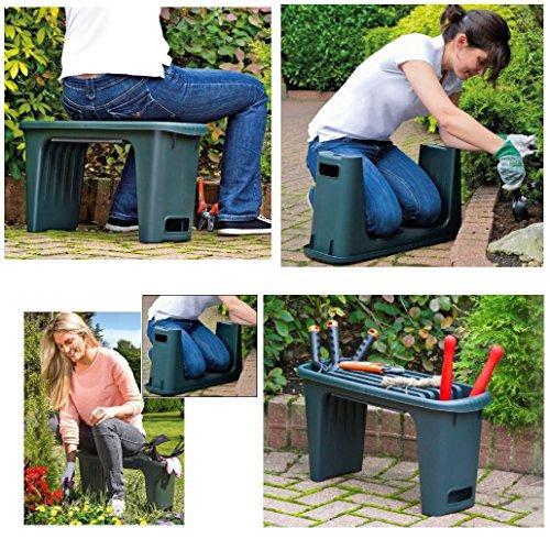 Gartenhocker Arbeitshocker Hocker für Arbeiten im Sitzen und Knien Sitzhöhe 34 cm