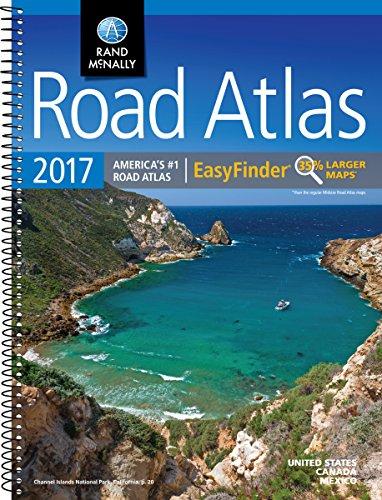 Rand McMally 2017 Road Atlas Easy Finder US Canada Mex (Rand Mcnally Road Atlas Midsize Easy Finder)