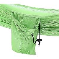 Wenquan,Hamaca de Nylon portátil para Viajes de 235 x 150 cm para Uso en Interiores y al Aire Libre(Color:Verde)