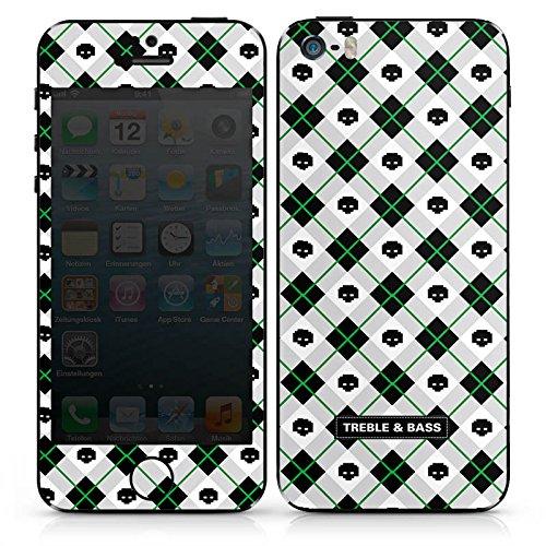 Apple iPhone 5c Case Skin Sticker aus Vinyl-Folie Aufkleber Karomuster Schwarz Weiss DesignSkins® glänzend