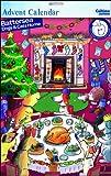 Adventskalender, WDM0178, Battersea Dogs & Cats Home, Motiv: Weihnachtsessen für Hunde, Glitzer-Finish