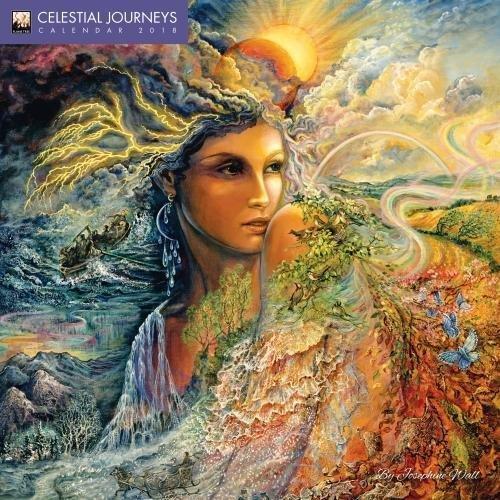Celestial Journeys by Josephine Wall Wall Calendar 2018 (Art Calendar)