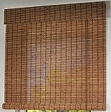 Holzrollo Holz Jalousie Raffrollo Raffstore Braun Breite 80 cm bis 160 cm Länge 170 cm und 220 cm...