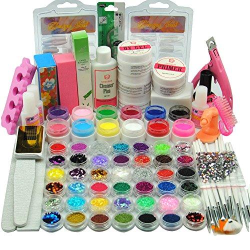 Coscelia Kit Nail Art Manucure Poudre Acrylique Colle à Ongle Gel UV Capsules Faux Ongles Décoration Set