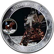 Volwco Apollo 11 50th Anniversary Commemorative Coin-Humans First Landing,Exquisite Ornaments Collection Arts Gifts Souvenir